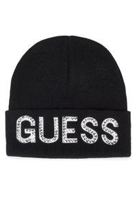 Czarna czapka zimowa Guess