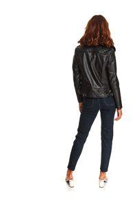 TOP SECRET - Ramoneska z odpinanym futrem. Kolor: czarny. Materiał: futro