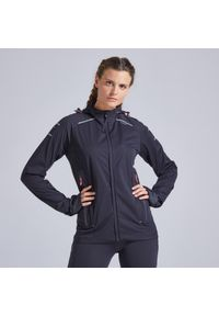 KIPRUN - Kurtka do biegania damska Kiprun Warm Regul ocieplana. Materiał: softshell, materiał. Sezon: zima. Sport: fitness