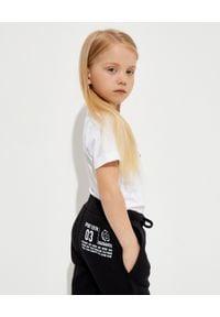 DSQUARED2 KIDS - Czarne spodnie z bawełny 4-16 lat. Okazja: na spacer. Kolor: czarny. Materiał: bawełna. Długość: długie. Wzór: nadruk. Sezon: lato. Styl: sportowy