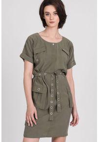 Zielona sukienka Monnari casualowa, mini, na co dzień