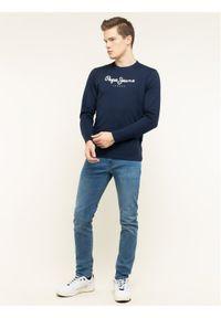 Niebieska koszulka z długim rękawem Pepe Jeans