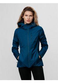 Niebieska kurtka przeciwdeszczowa 4f ze stójką, casualowa, na co dzień