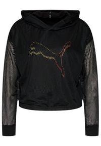 Puma Bluza techniczna Modern Sports 587915 Czarny Relaxed Fit. Kolor: czarny