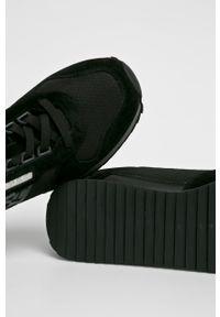 Czarne sneakersy Napapijri z okrągłym noskiem, na sznurówki