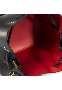 Czarna torebka worek Love Moschino zdobiona, casualowa, z aplikacjami