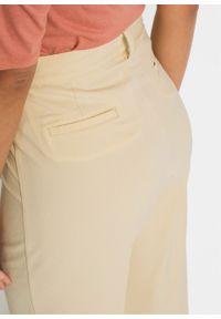 Spodnie bonprix waniliowy. Kolor: żółty