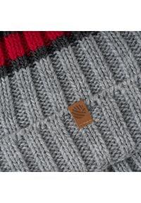Czapka unisex w stylu sportowym PaMaMi - Czerwony. Kolor: czerwony. Materiał: poliamid, akryl. Styl: sportowy