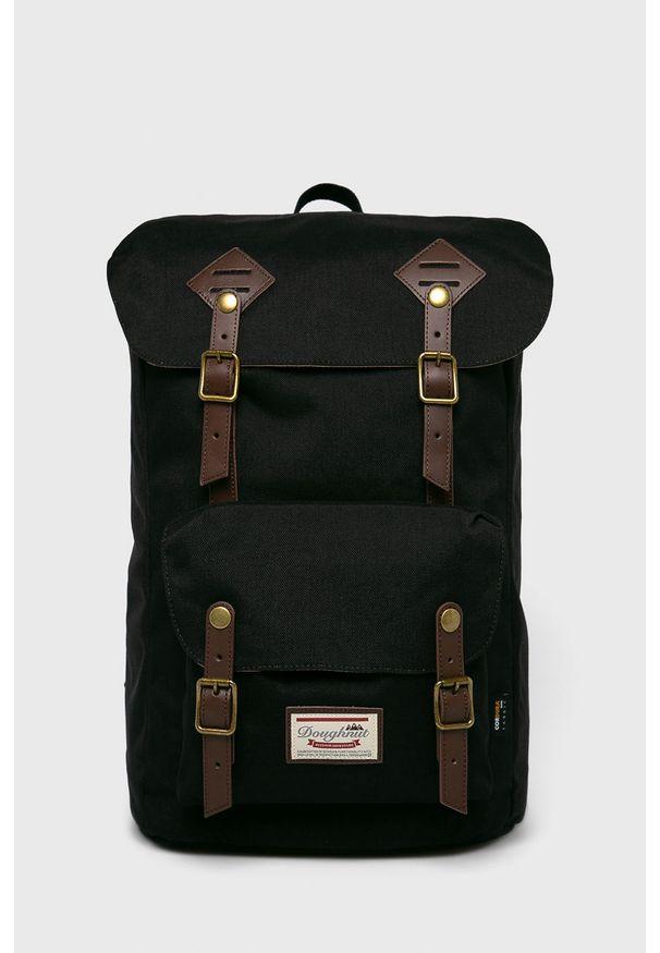 Czarny plecak Doughnut w paski, vintage