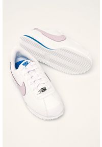 Białe buty sportowe Nike Kids na sznurówki, Nike Cortez