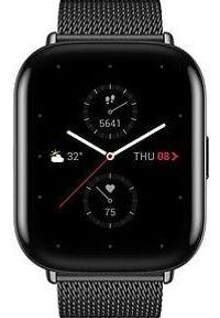 Czarny zegarek Huami smartwatch