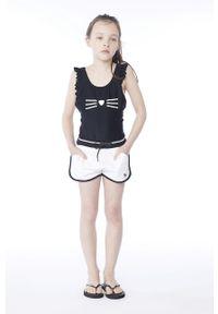 Czarny strój jednoczęściowy Karl Lagerfeld z nadrukiem, z odpinanymi ramiączkami