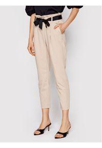 Beżowe spodnie materiałowe Rinascimento