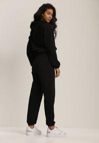 Renee - Czarny Komplet Dresowy Dwuczęściowy Iphoche. Kolor: czarny. Materiał: dresówka