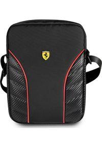 Czarna torba na laptopa Ferrari