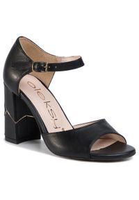 Czarne sandały Oleksy