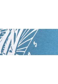 TOP SECRET - T-shirt bez rękawów. Kolor: niebieski. Materiał: bawełna, tkanina, jeans. Długość rękawa: bez rękawów. Wzór: nadruk. Sezon: lato. Styl: wakacyjny