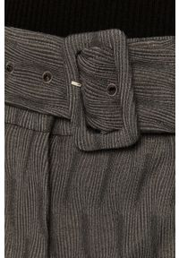 Szare spodnie materiałowe Stefanel z podwyższonym stanem, klasyczne