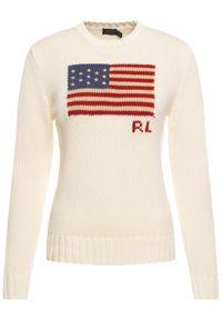 Beżowy sweter klasyczny Polo Ralph Lauren polo