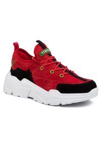 Czerwone buty sportowe Togoshi z cholewką, na co dzień