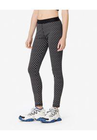 Kenzo - KENZO - Sportowe legginsy z logo. Kolor: czarny. Materiał: len, materiał. Wzór: aplikacja. Styl: sportowy