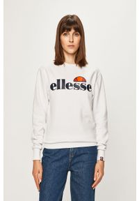 Biała bluza Ellesse bez kaptura, na co dzień, casualowa, z nadrukiem