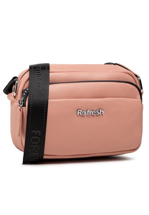 Refresh - Torebka REFRESH - 83374 Nude. Kolor: różowy. Materiał: skórzane