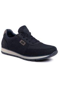 Rieker Sneakersy 18331-14 Granatowy. Kolor: niebieski