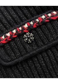SELF PORTRAIT - Sukienka mini z prążkowanej dzianiny. Kolor: czarny. Materiał: dzianina, prążkowany. Typ sukienki: dopasowane. Długość: mini