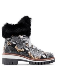 Szare buty trekkingowe New Italia Shoes
