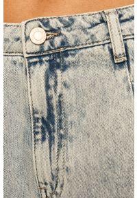 Niebieski jeansy loose fit TALLY WEIJL w kolorowe wzory, z podwyższonym stanem