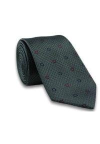 Elegancki Krawat Męski w Delikatny Rzucik, Grochy -6,5cm- Chattier, Srebrny. Kolor: srebrny. Materiał: tkanina. Wzór: grochy. Styl: elegancki