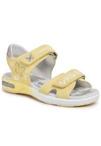 Żółte sandały Superfit z aplikacjami