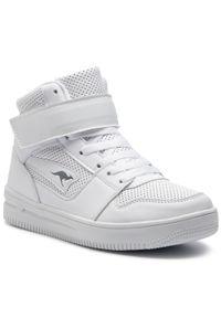 Białe buty sportowe KangaRoos z aplikacjami, na rzepy
