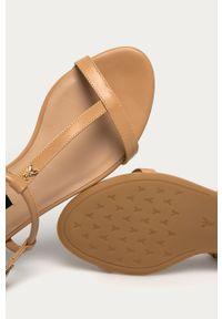 Beżowe sandały Patrizia Pepe bez obcasa, klasyczne