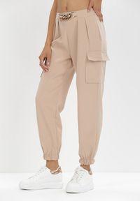 Born2be - Beżowe Spodnie Nyxanise. Kolor: beżowy #6