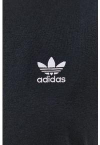 adidas Originals - Sukienka. Okazja: na co dzień. Kolor: czarny. Długość rękawa: krótki rękaw. Wzór: aplikacja. Typ sukienki: proste. Styl: casual