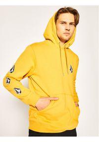 Volcom Bluza Deadly Stones 2 A4112000 Żółty Regular Fit. Kolor: żółty