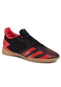 Adidas - Buty adidas - Predator 20.4 In Sala J EF1979 Cblack/Actred/Cblack. Okazja: na uczelnię, na spacer, na co dzień. Kolor: czarny, czerwony, wielokolorowy. Materiał: skóra, skóra ekologiczna, materiał. Szerokość cholewki: normalna. Styl: casual