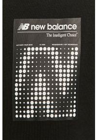 Czarna bluza nierozpinana New Balance z nadrukiem, casualowa, na co dzień
