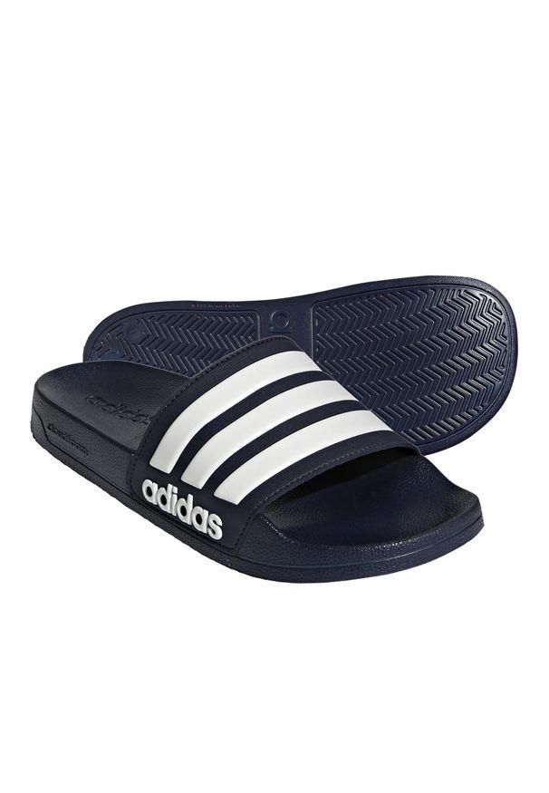 Klapki Basenowe Dla Dorosłych Adidas Adilette Shower. Kolor: niebieski, biały, wielokolorowy