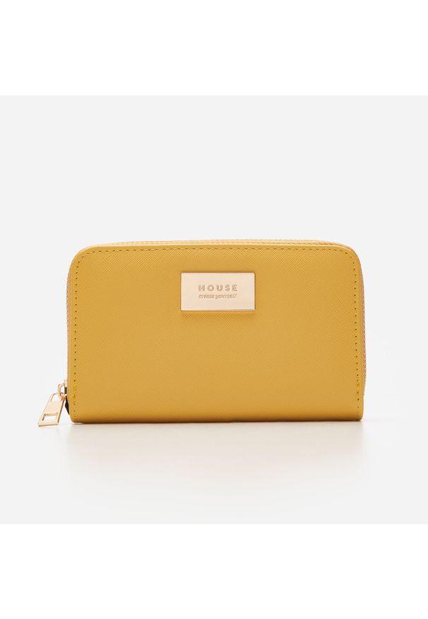 Żółty portfel House z napisami