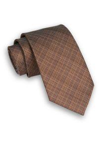 Brązowy krawat Alties melanż, elegancki