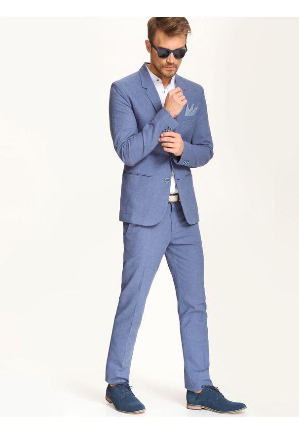 Niebieskie spodnie TOP SECRET na co dzień, długie, casualowe