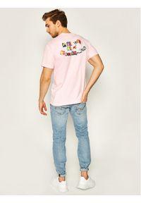 Różowy t-shirt HUF