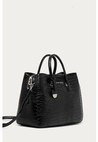 Czarna shopperka Silvian Heach klasyczna, na ramię