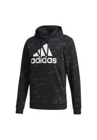 Bluza z kapturem Adidas z nadrukiem, do domu, długa