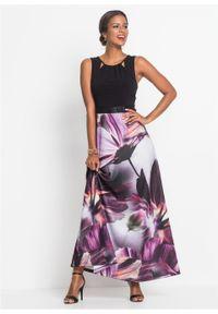Czarna sukienka bonprix na lato, w kwiaty