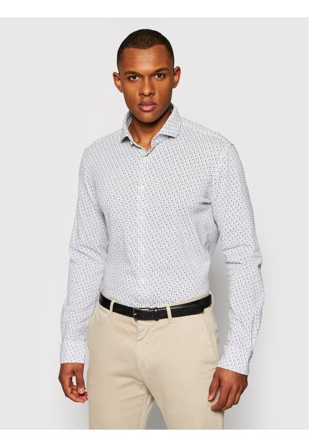 Baldessarini Koszula Henry B3 11000/000/3510 Biały Tailored Fit. Kolor: biały