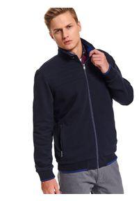 Niebieska bluza TOP SECRET w kolorowe wzory, na co dzień